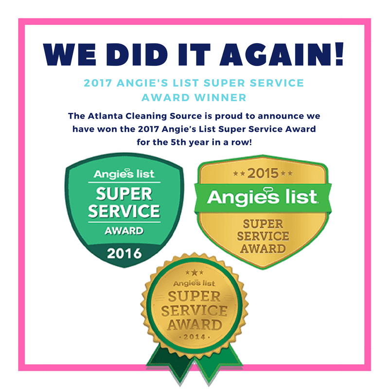 The Atlanta Cleaning Source Angies List Super Service Award Winner