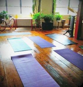 atlanta cleaning health wellness program for team members yoga class